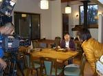 YBSテレビ取材
